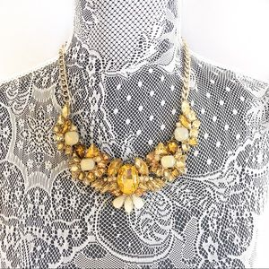 NEW Banana Republic Gold Brown Crystal Necklace